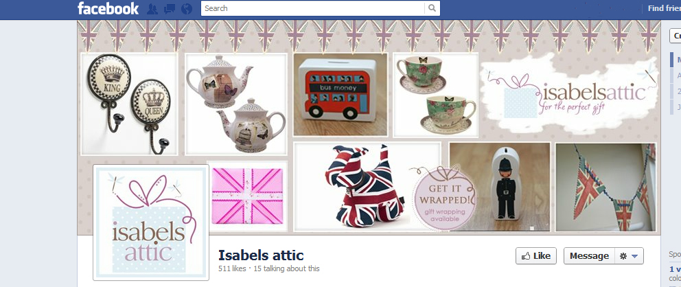 Isabels Attic Jubilee themed Facebook banner