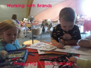 working with brands Peppa Pig world product testing