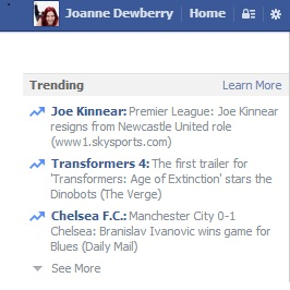 trending feature facebook