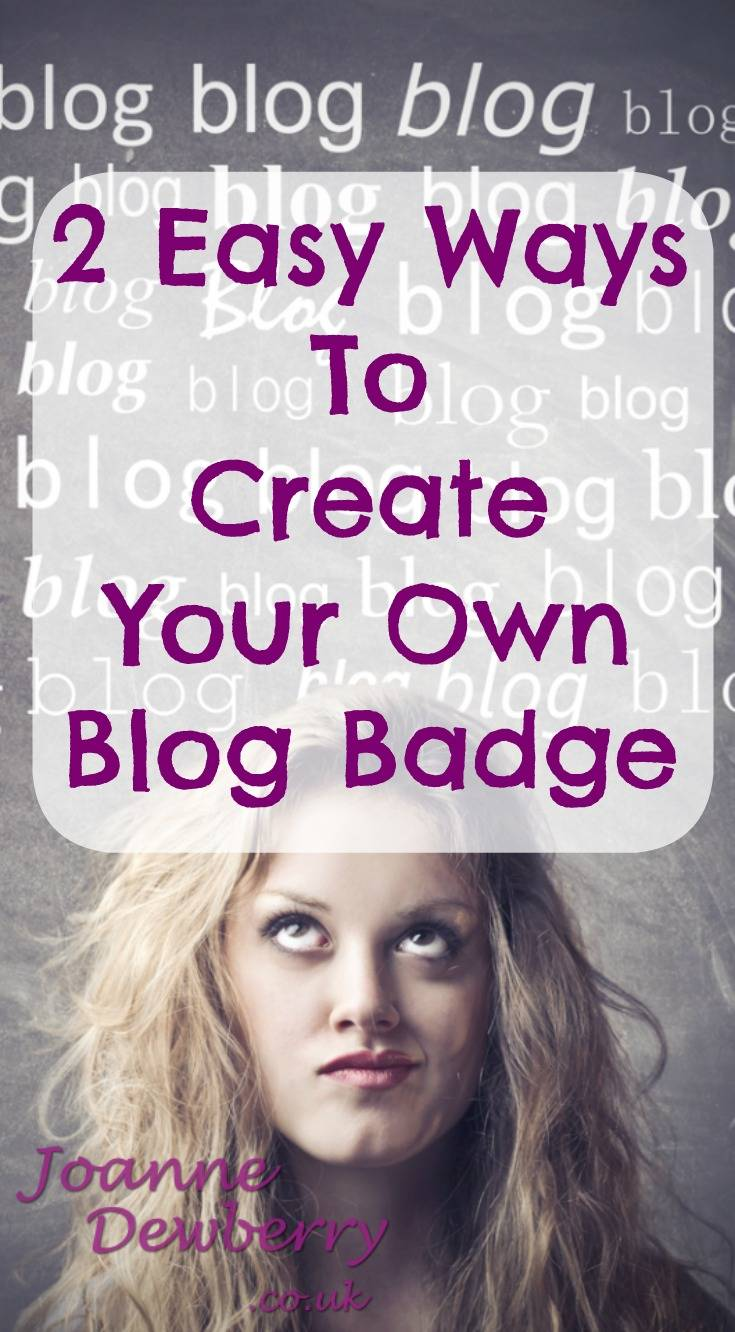 create your own blog badge