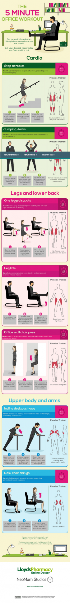 5 Minute Exercise at Work   Everyman Health