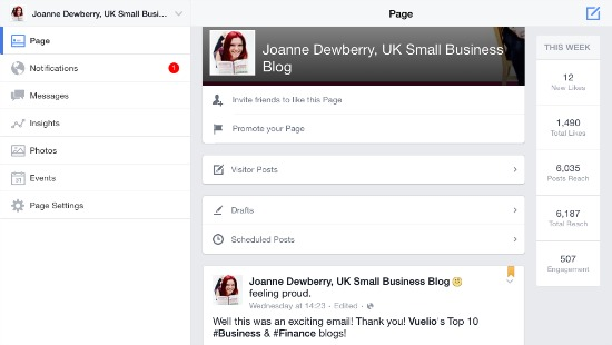 Facebook JoanneDewberry.co.uk