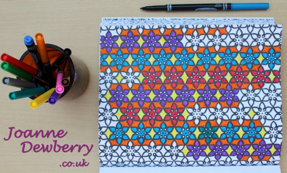 reduce stress with crayola adult colouring