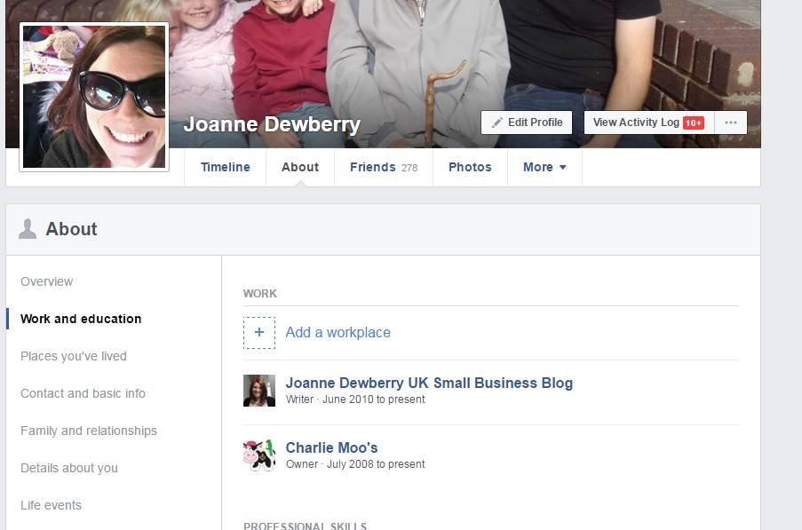 Image illustrating connecting your personal profile to a Facebook business page