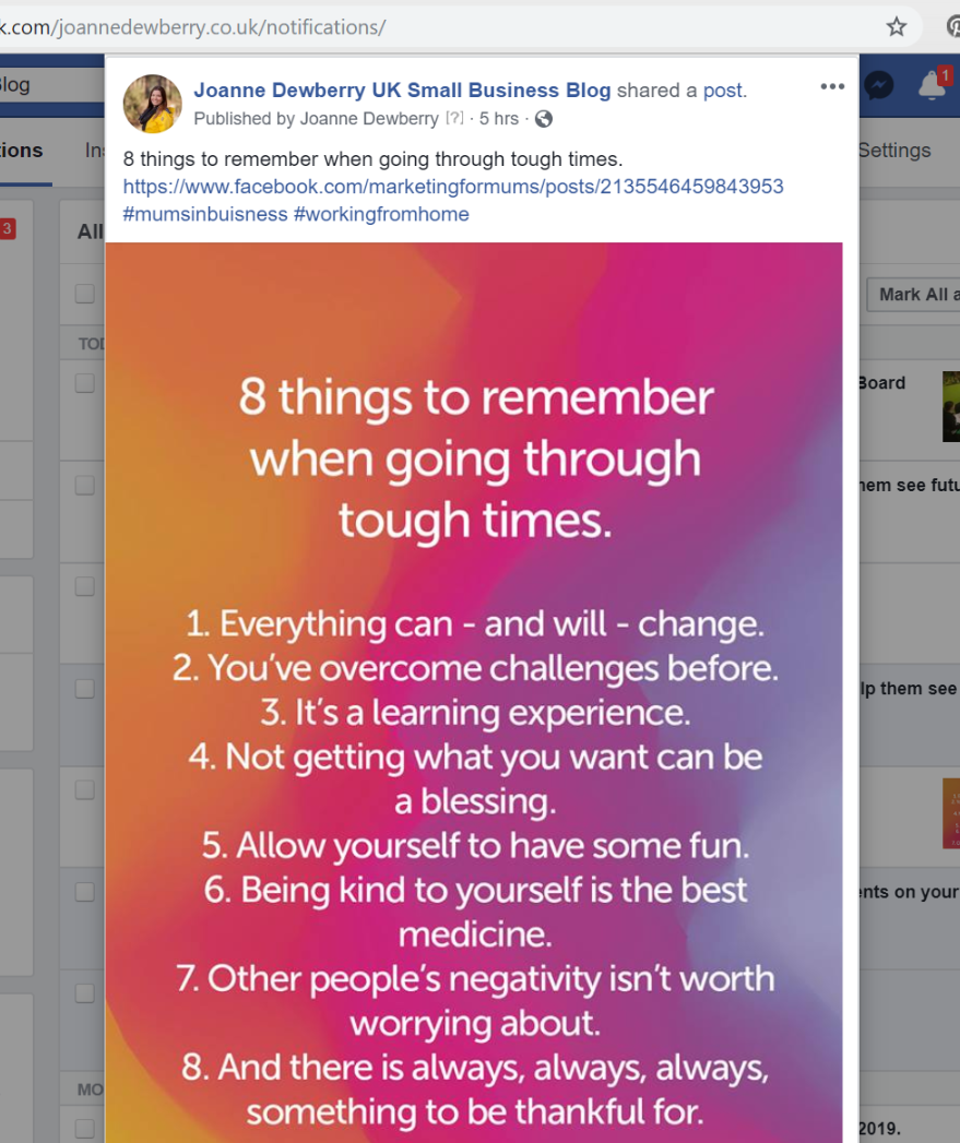 20 Facebook Business Page Tips | Joanne Dewberry