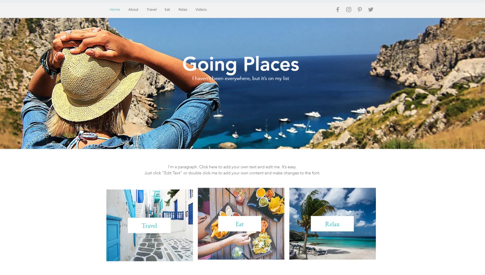 template website example