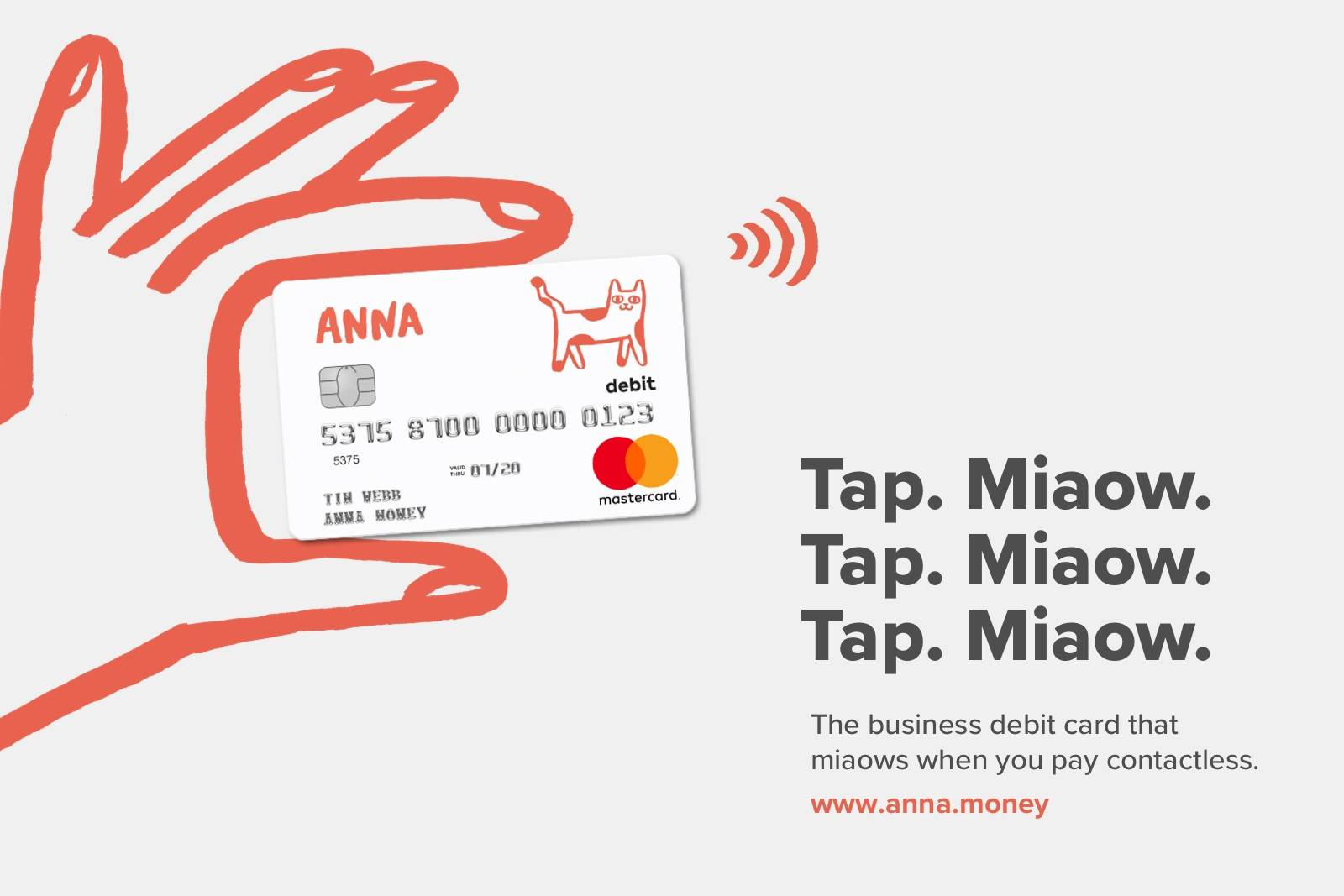 ANNA miaow debit card