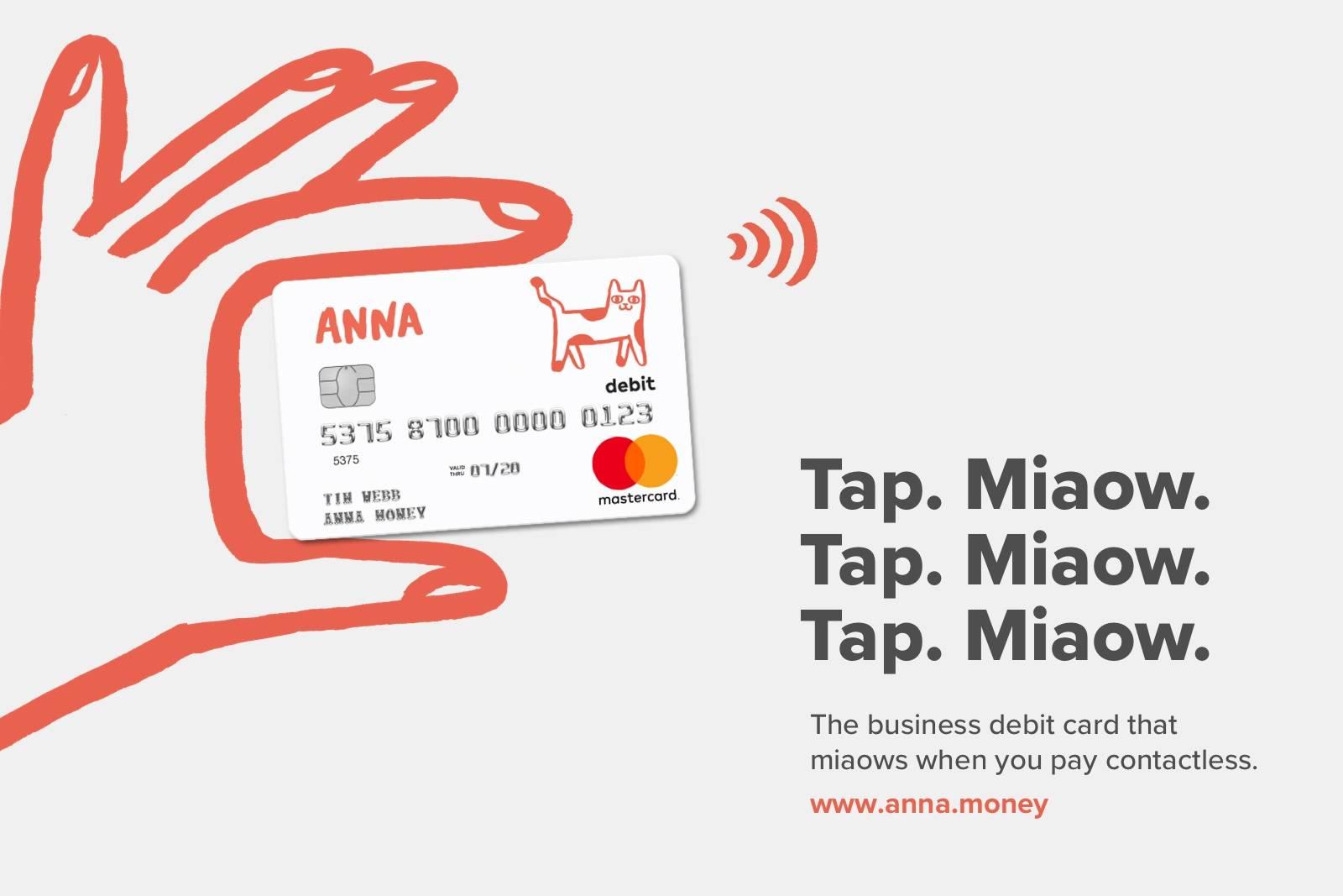 ANNA miaow debit card