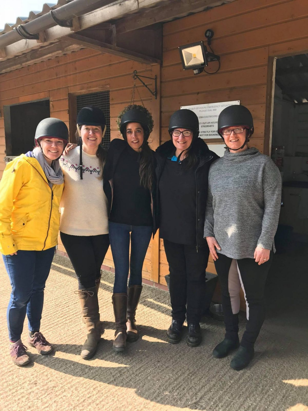 team horse riding