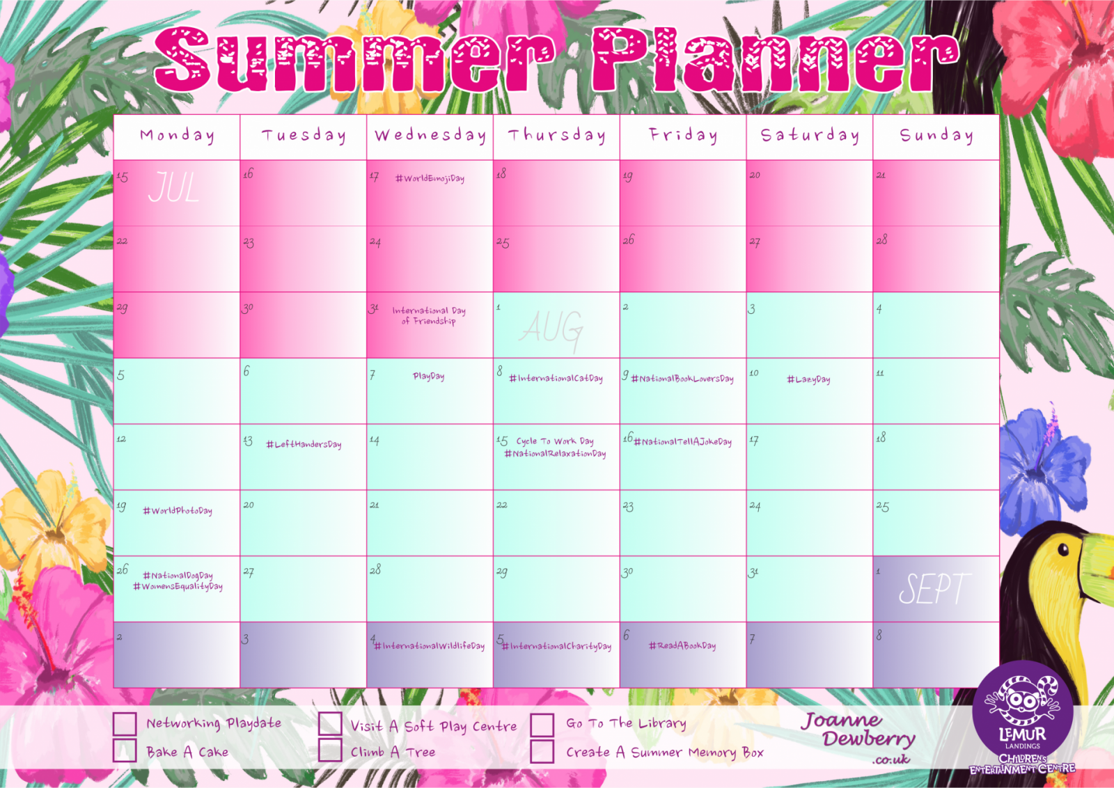 Summer Holiday Planning For Busy Working Parents (FREE Download + GIVEAWAY)