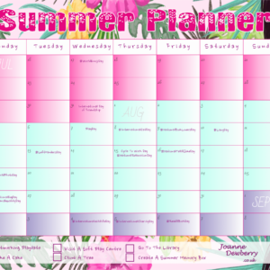 summer holiday planner 2019