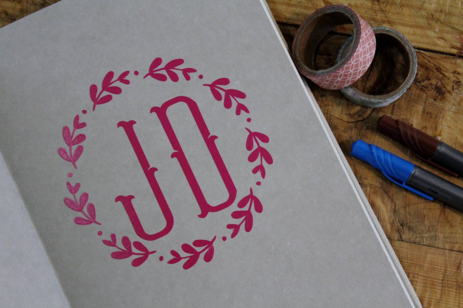 Personalising Your Notebook With a Monogram