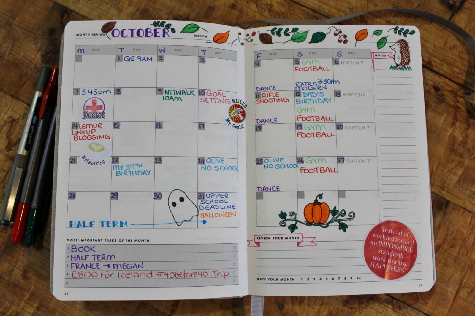 monthly calendar mal paper