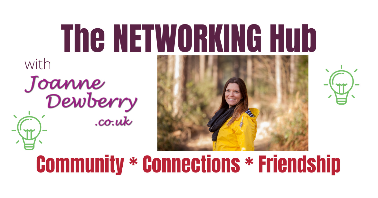 networking hub facebook group with Joanne Dewberry