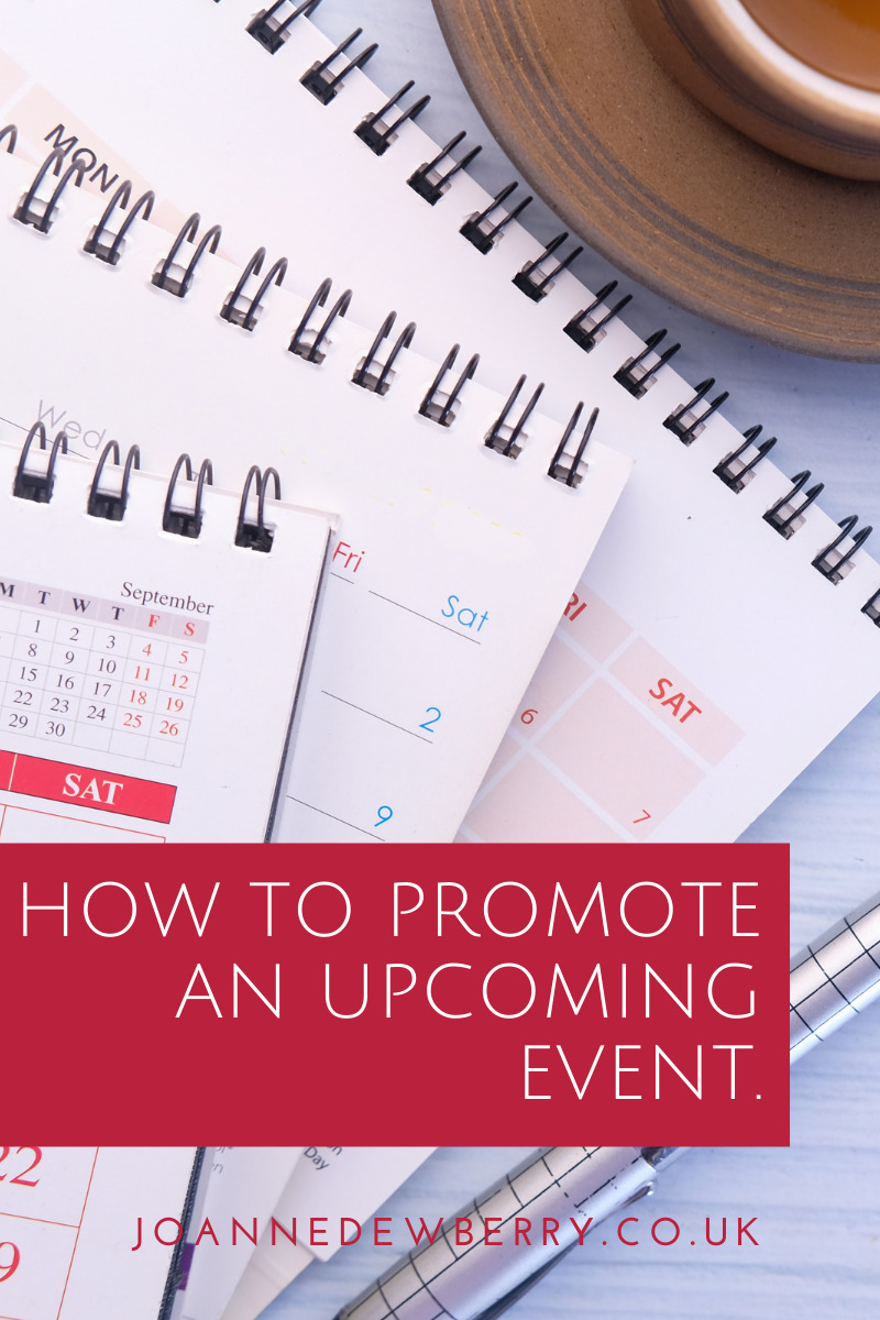How To Promote An Upcoming Event