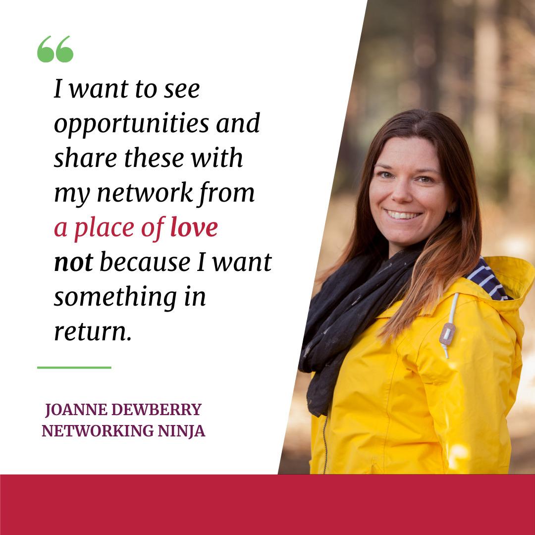 joanne dewberry networking successful small business networking ninja tips