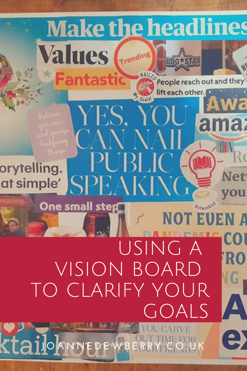 using a vision board to clarify your goals