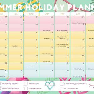 Summer Holiday Planner 2021