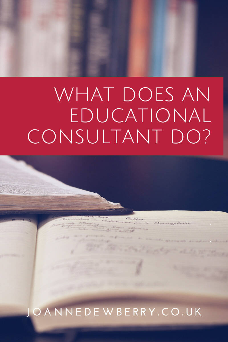 What Does An Educational Consultant Do?